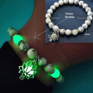 Glowing Natural Stone Healing Prayer Bracelet