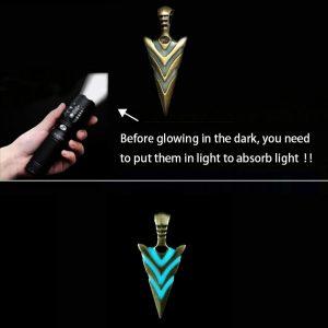 Glowing Arrow Pendant Necklace