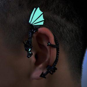 Glowing Mystical Dragon Ear Cuff Earrings