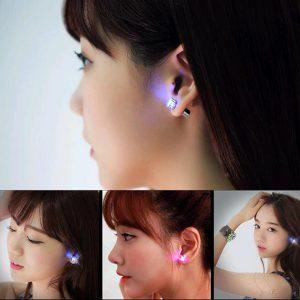 Cubic Zirconium LED Glowing Crystal Earring Studs
