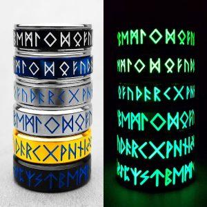 Glowing Viking Rune Mens Ring