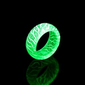 Glowing Wooden Resin Tatoo Ring
