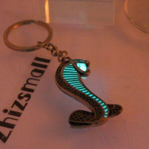 Glowing Cobra Glow in the Dark Luminous Keychain Pendant