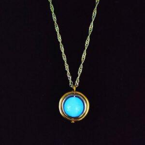 Glow In The Dark Orb Key Pendant Necklace