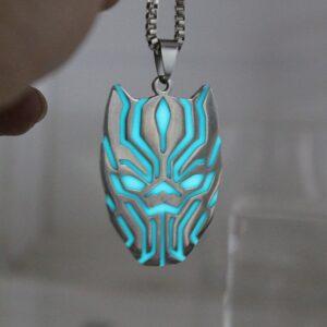 Glow in the Dark T'Challa Handmade Pendant Necklace