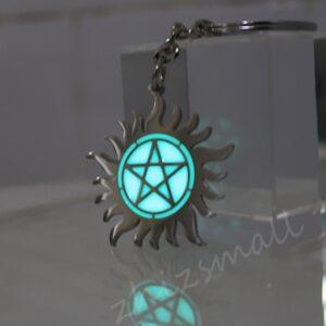 Glow in the Dark Stainless Steel Supernatural Pentagram Pendant Necklace