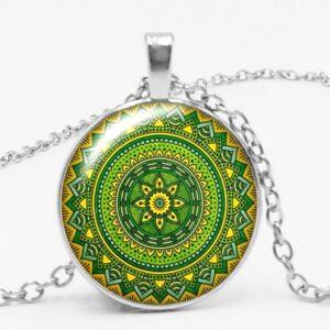 Kaleidoscope Fame Series Glass Gem Necklace Choker Pendant Necklace