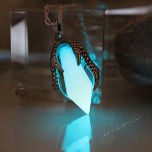 Glow in the Dark Dragon Claw Crystal Pendant Necklace
